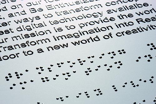 Sicurezza sul lavoro in braille