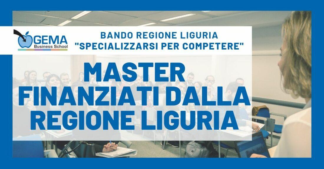 """Bando Regione Liguria """"Specializzarsi per Competere"""": ecco i Master GEMA finanziabili"""