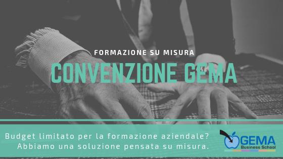 Convenzione GEMA: soluzione su misura per la formazione aziendale