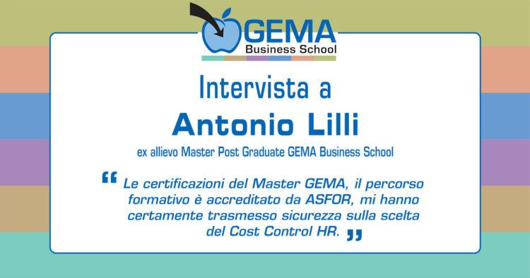 Master GEMA in Risorse Umane: l'opinione di Antonio Lilli
