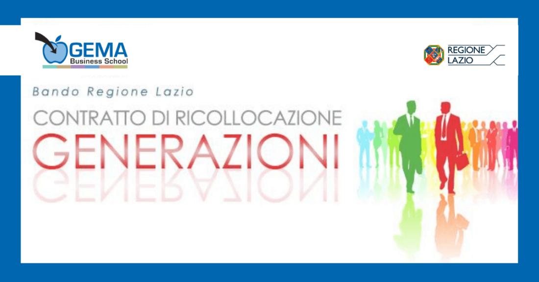 """GEMA Business School aderisce al progetto della Regione Lazio """"Contratto di ricollocazione – Generazioni"""""""