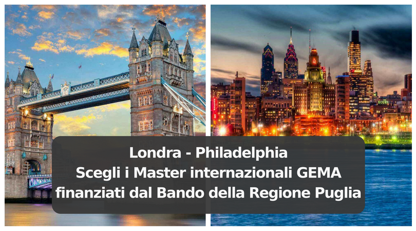 Bando Pass Laureati della Regione Puglia e Master all'estero con GEMA