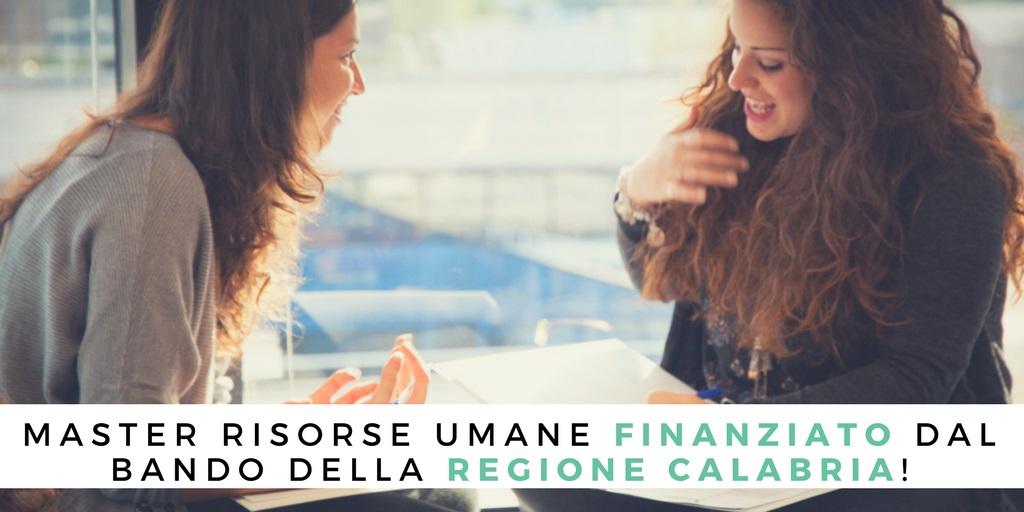 Master Risorse Umane GEMA finanziato dal Bando della Regione Calabria.
