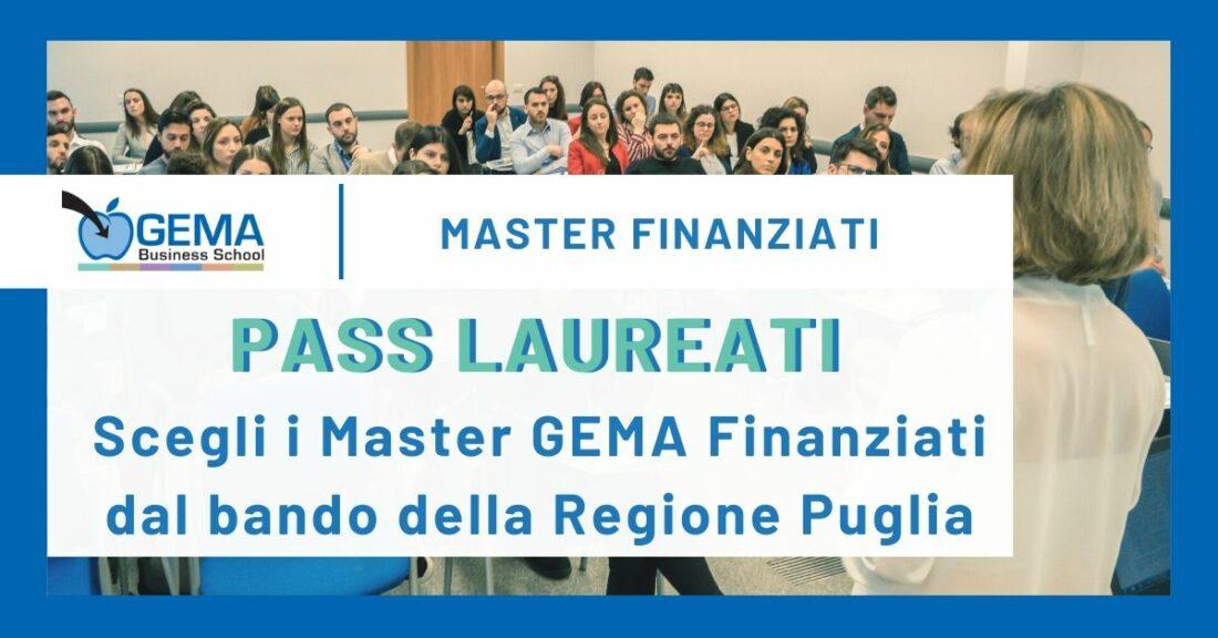 "Bando Regione Puglia ""Pass Laureati"" – Voucher per Master Post Laurea GEMA"