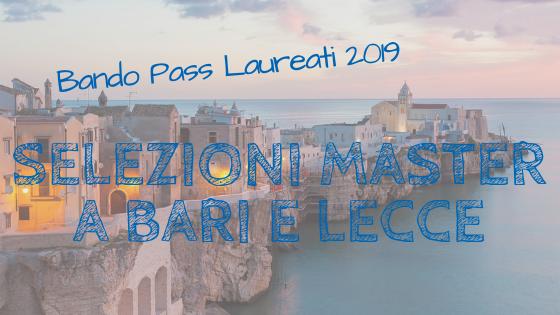 Bando Pass Laureati, selezioni a Roma? No anche Bari