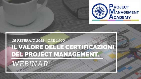 Invito al Webinar – Il valore delle Certificazioni del Project management.